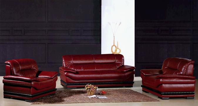 Modern Sofa Genuine Leather Stylish Set Upholstered Contemporary Seat Home And Office Furniture Model S18 1 120x88x90