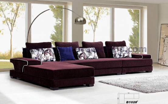 Elegant Modern Sectional Sofa Stylish Fabric Seat Leisure Corner Upholstered Living Room L Shape Contemporary Home